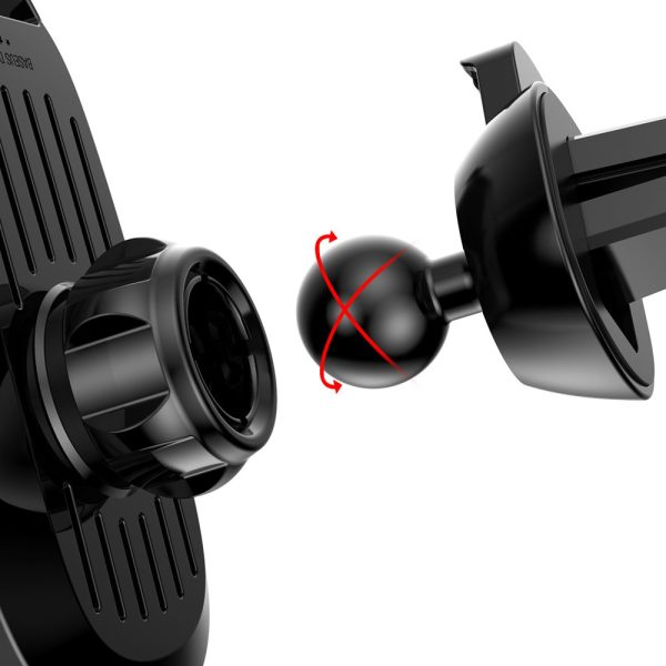 Suport telefon pentru masina pe grila de ventilare Baseus Smart Car Mount negru-5065