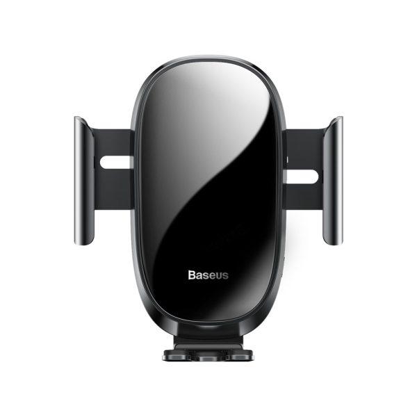 Suport telefon pentru masina pe grila de ventilare Baseus Smart Car Mount negru-5063