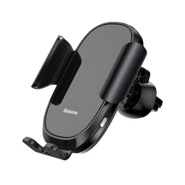 Suport telefon pentru masina pe grila de ventilare Baseus Smart Car Mount negru-5067