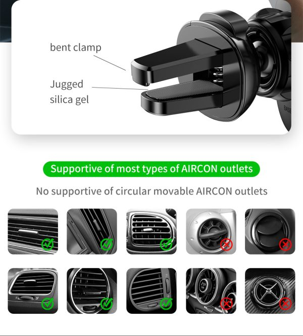 Suport telefon pentru masina Baseus Mini gravity holder negru -5103
