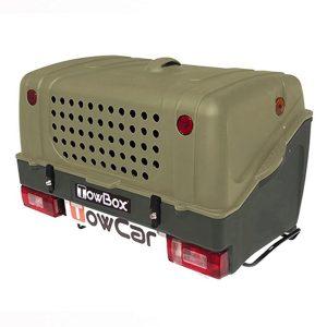 Cutie portbagaj pe carligul de remorcare Towbox V1 DOG Verde + Dispozitiv de reglare a ventilatiei TBA0004