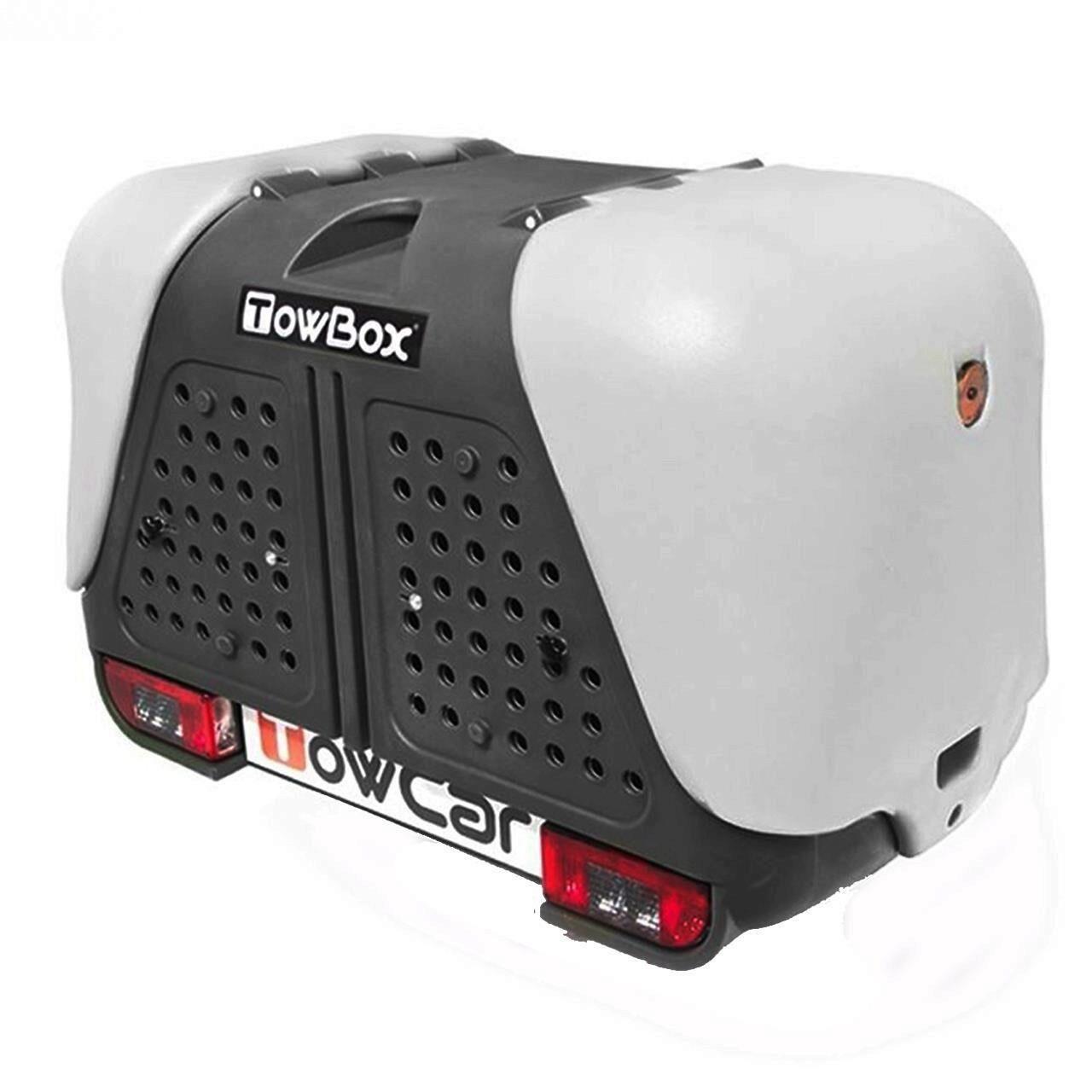 Cutie portbagaj pe carligul de remorcare Towbox V2 DOG Gri